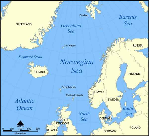 GIUK gap where Russian Submarines must pass