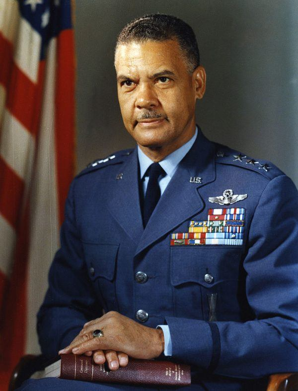 benjamin o davis jr a symbol Progress was slow it was not until september 2, that captain benjamin o davis, jr, became the first negro to solo an aircraft as a us army air corps officer on march 7, 1942, young black pilots stood at attention on tuskegee's airstrip, for induction into the us army air corps.