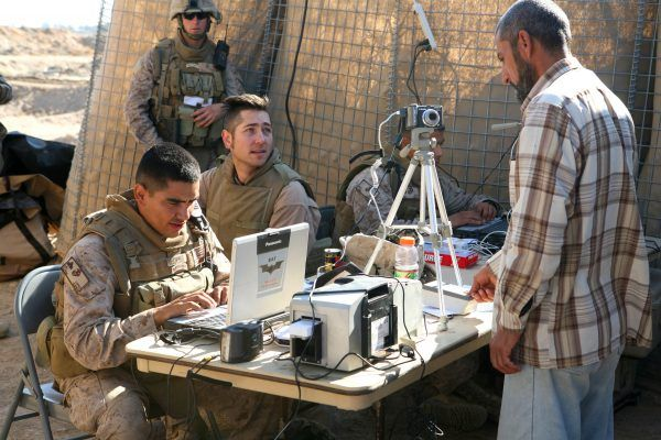 Iraq biometric ID BATT HIDE system USMC