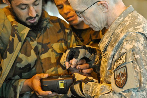 Afghanistan biometric scan BATT HIDE SEEK ISAF ANA