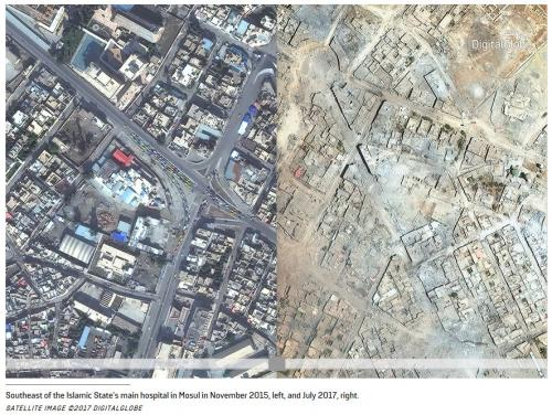 Mosul 2017 November 2015 US bombing IS ISIS